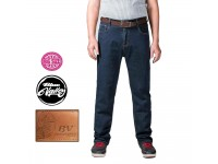 Original BV Travellers Big Size Stretchable Jeans Regular Fit B15-30010 (DK Blue)